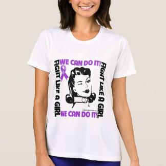 Pancreatic Cancer - Fight Like A Girl We Can Do It T-shirt