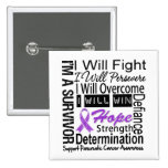 Pancreatic Cancer Fight Persevere Overcome Win Pinback Button