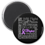 Pancreatic Cancer Fight Persevere Overcome Win Fridge Magnet