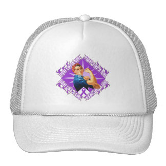 Pancreatic Cancer Fight Rosie The Riveter Trucker Hat