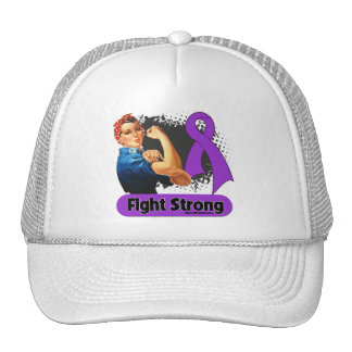 Pancreatic Cancer Fight Strong Rosie Riveter Hats