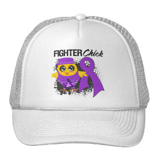 Pancreatic Cancer Fighter Chick Grunge Mesh Hats