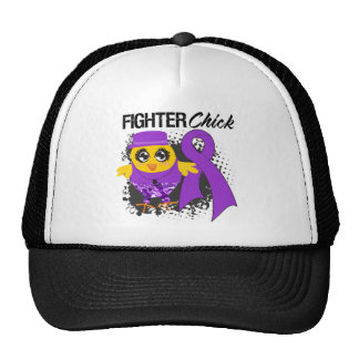 Pancreatic Cancer Fighter Chick Grunge Trucker Hats