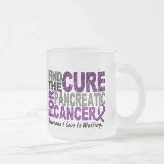 Pancreatic Cancer FIND THE CURE 1 10 Oz Frosted Glass Coffee Mug