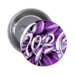 Pancreatic cancer floral hope products pinback buttons