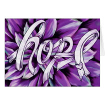 Pancreatic cancer floral hope products card