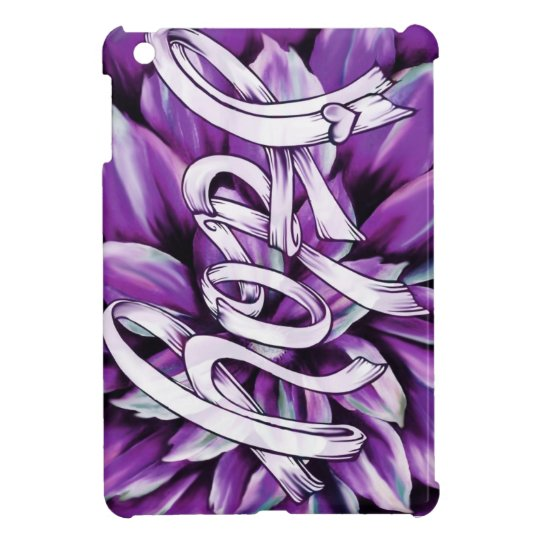 Pancreatic cancer floral hope products case for the iPad mini