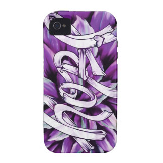 Pancreatic cancer floral hope products Case-Mate iPhone 4 cover