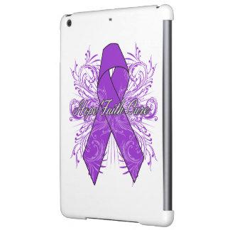 Pancreatic Cancer Flourish Hope Faith Cure Cover For iPad Air