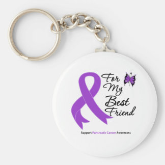 Pancreatic Cancer For My Best Friend Basic Round Button Keychain