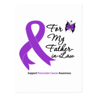 Pancreatic Cancer For My Father-in-Law Postcard