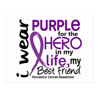Pancreatic Cancer For My Hero My Best Friend 2 Postcard