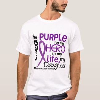 Pancreatic Cancer For My Hero My Daughter 2 T-Shirt