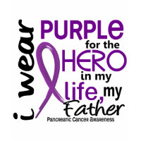 Pancreatic Cancer For My Hero My Father 2 shirt