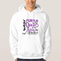 Pancreatic Cancer For My Hero My Grandma 2 Hoodie
