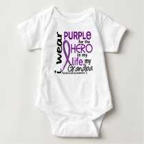 Pancreatic Cancer For My Hero My Grandpa 2 Baby Bodysuit