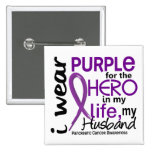 Pancreatic Cancer For My Hero My Husband 2 Button