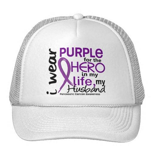Pancreatic Cancer For My Hero My Husband 2 Trucker Hat