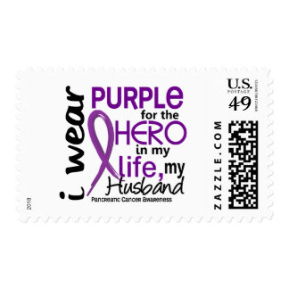 Pancreatic Cancer For My Hero My Husband 2 Postage Stamp