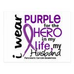 Pancreatic Cancer For My Hero My Husband 2 Postcard