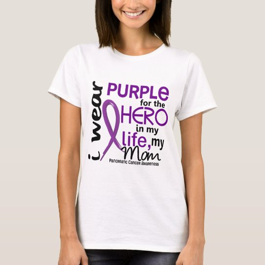 Pancreatic Cancer For My Hero My Mom 2 T-Shirt