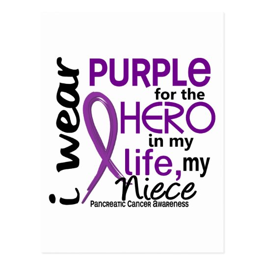 Pancreatic Cancer For My Hero My Niece 2 Postcard