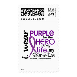 Pancreatic Cancer For My Hero My Sister-In-Law 2 Postage Stamp