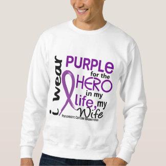 Pancreatic Cancer For My Hero My Wife 2 Sweatshirt