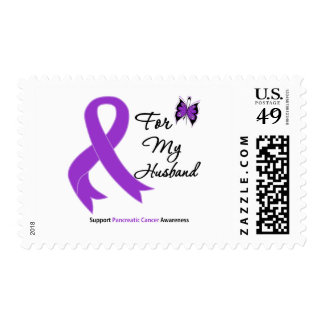 Pancreatic Cancer For My Husband Stamp