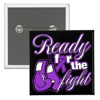 Pancreatic Cancer Gloves Ready For The Fight 2 Inch Square Button
