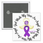 Pancreatic Cancer God Made My Hero An Angel Pinback Button