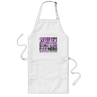 Pancreatic Cancer HERO COMES ALONG 1 Best Friend Long Apron