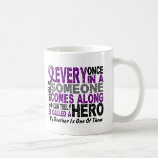 Pancreatic Cancer HERO COMES ALONG 1 Brother Classic White Coffee Mug