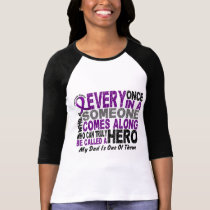 Pancreatic Cancer HERO COMES ALONG 1 Dad T-Shirt