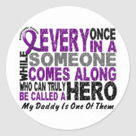 Pancreatic Cancer HERO COMES ALONG 1 Daddy Sticker