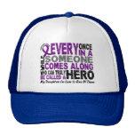 Pancreatic Cancer HERO COMES ALONG 1 DaughterInLaw Trucker Hat