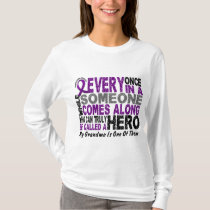 Pancreatic Cancer HERO COMES ALONG 1 Grandma T-Shirt