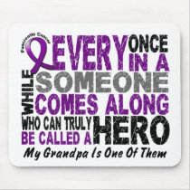 Pancreatic Cancer HERO COMES ALONG 1 Grandpa Mouse Pad