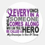 Pancreatic Cancer HERO COMES ALONG 1 Grandpa Stickers
