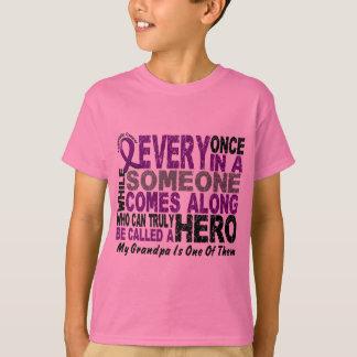 Pancreatic Cancer HERO COMES ALONG 1 Grandpa T-Shirt