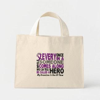 Pancreatic Cancer HERO COMES ALONG 1 Grandson Mini Tote Bag