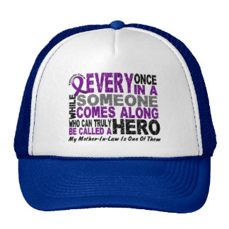 Pancreatic Cancer HERO COMES ALONG 1 Mother-In-Law Trucker Hat