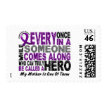 Pancreatic Cancer HERO COMES ALONG 1 Mother Postage Stamps