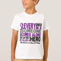 Pancreatic Cancer HERO COMES ALONG 1 Uncle T-Shirt