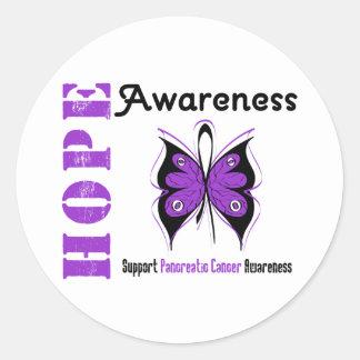 Pancreatic Cancer Hope Awareness Round Sticker