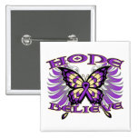 Pancreatic Cancer Hope Believe Butterfly Pinback Buttons