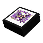 Pancreatic Cancer Hope Believe Butterfly Jewelry Boxes