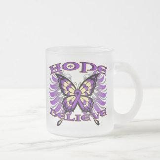 Pancreatic Cancer Hope Believe Butterfly Coffee Mug
