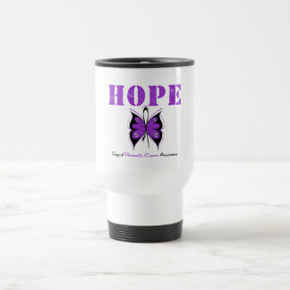 Pancreatic Cancer Hope Butterfly 15 Oz Stainless Steel Travel Mug