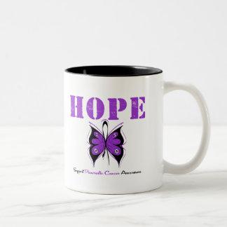 Pancreatic Cancer Hope Butterfly Two-Tone Coffee Mug
